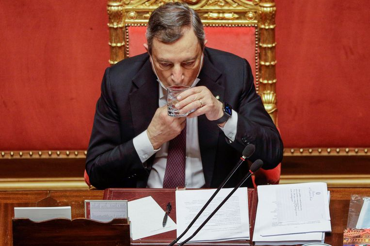 De regering van Mario Draghi ziet in de coronasteun een unieke en misschien wel laatste kans voor een transformatie van Italië. Beeld AP