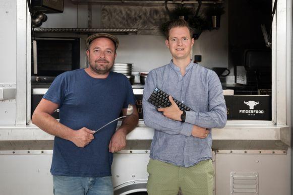 Maty Van Geirt en Marten Sytema, de ontwikkelaars van 'Catermonkey'.