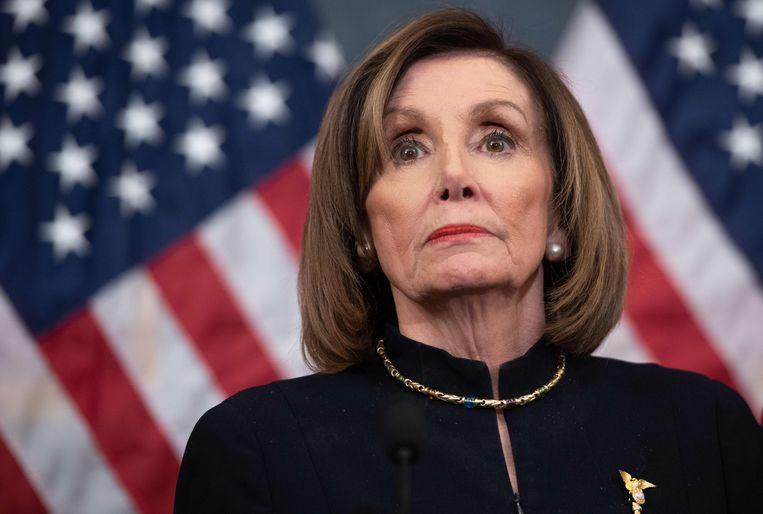 Democratisch voorzitter van het Huis van Afgevaardigden Nancy Pelosi. Beeld AFP