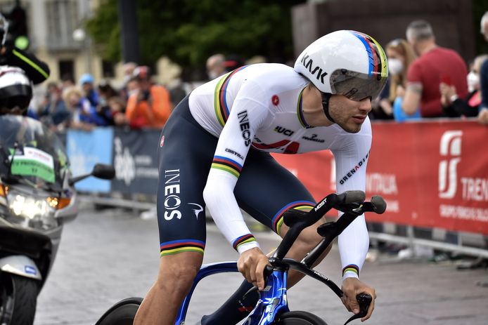 Turin - Italy - wielrennen - cycling - cyclisme - radsport -  Filippo Ganna (Italy / Team INEOS Grenadiers) pictured during 104th Giro d'Italia - (2.UWT) stage 1 (ITT) - Turin - Turin (8.6KM) - photo LB/RB/Cor Vos © 2021