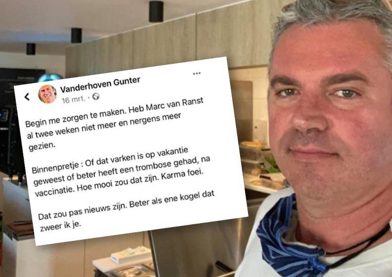 Gunter Vanderhoven wil in dialoog gaan met Van Ranst, maar die laatste denkt niet meteen aan een meet-and-greet.