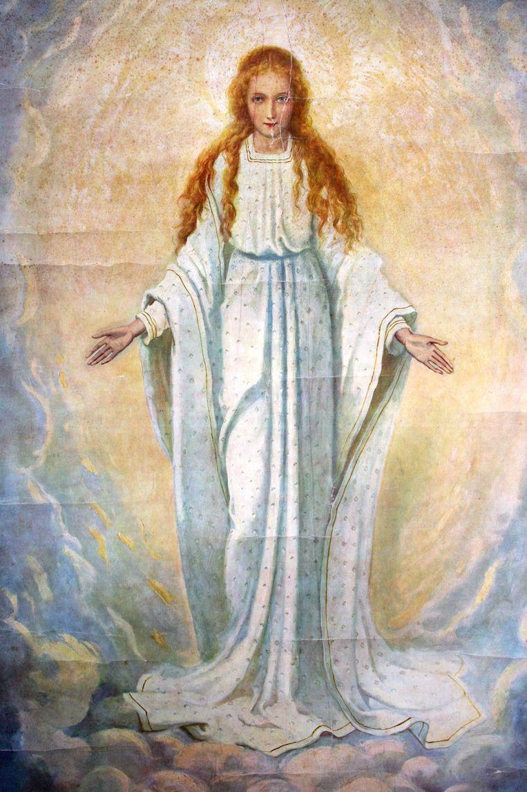 Devotieprent van O.L. Vrouwe van Welberg Beeld  Uit het boek 'Vurige liefde'.