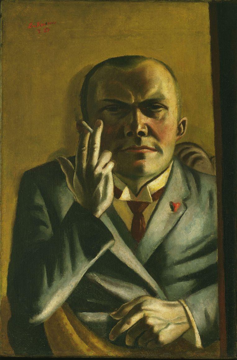 Max Beckmann, Self-Portrait with a Cigarette. 'Er zit diepte in, net als in de zelfportretten van Rembrandt.' Beeld HH