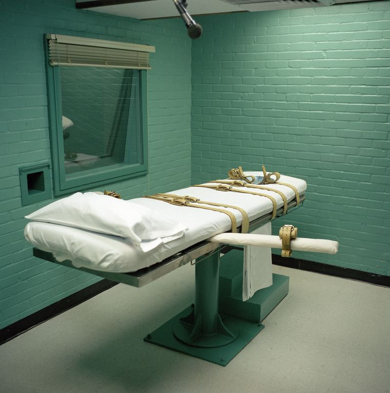 De kamer waar de doodstraf wordt uitgevoerd in de gevangenis Huntsville in Texas. Beeld Corbis via Getty Images