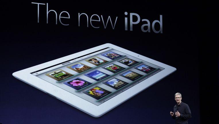 Voorstelling van de iPad in 2012. Beeld PHOTO_NEWS