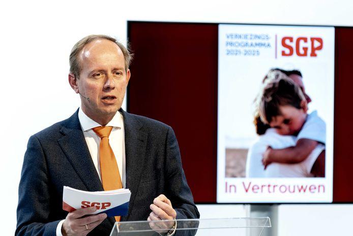 Lijsttrekker Kees van der Staaij van de SGP.