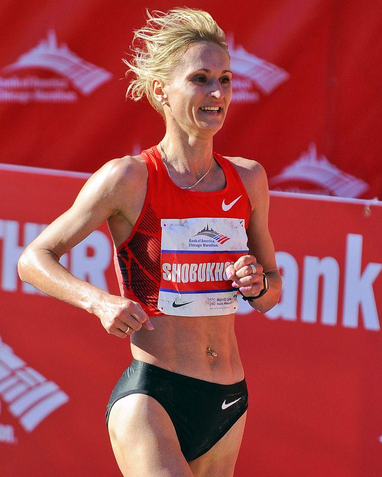 Marathonloopster Lilia Sjoboechova, ook geinterviewd in de ARD-documentaire. Beeld epa