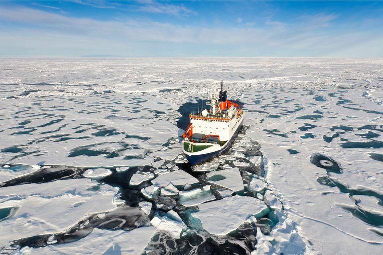 Het noordpoolgebied warmt al jaren drie- tot viermaal zo snel op als het wereldgemiddelde. Beeld EPA