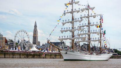 Grootste zeilschepen ter wereld meren opnieuw aan in Antwerpen tijdens The Tall Ships Races