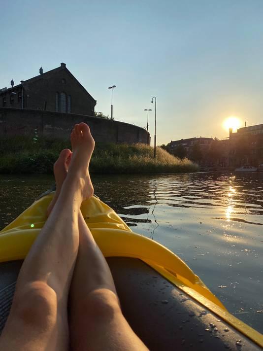 Vakantie in eigen land op de Utrechtse gracht.