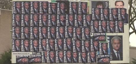 Geert Wilders domineert in Geldrop, maar vooralsnog alleen op een posterbord