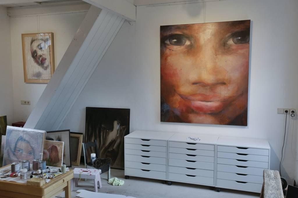 Het atelier van Kay Gotlieb in de Hooisteeg.