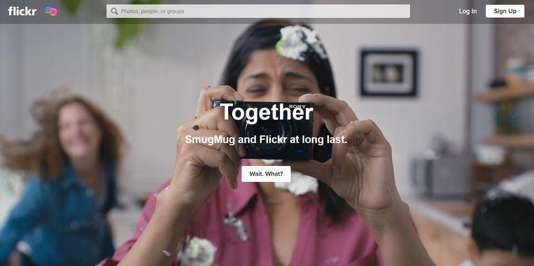 De homepage van Flickr. Beeld Flickr