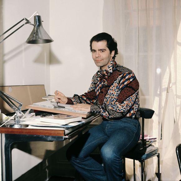 Lagerfeld in 1972.