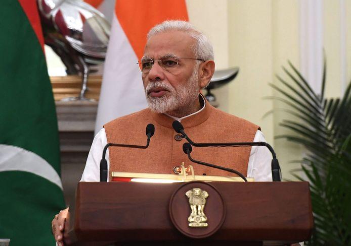 De Indiase premier Narendra Modi steunde in 2015 de oproep om herstelbetalingen van het Verenigd Koninkrijk.