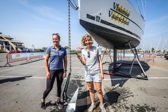 Imke Courtois doopte een zeilboot met haar naam in de haven in Nieuwpoort.