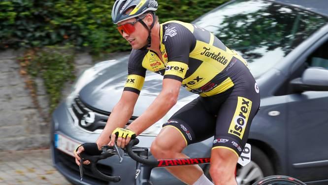 """Gil D'heygere haalt  met derde plaats in GP de la Somme voor het eerst podium in UCI-koers: """"Onze sprinttrein kwam iets te vroeg in stelling"""""""