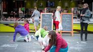 Sjabi-leerlingen kleuren marktdag