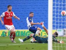 Brighton & Hove Albion boekt met goal in extremis belangrijke zege op Arsenal