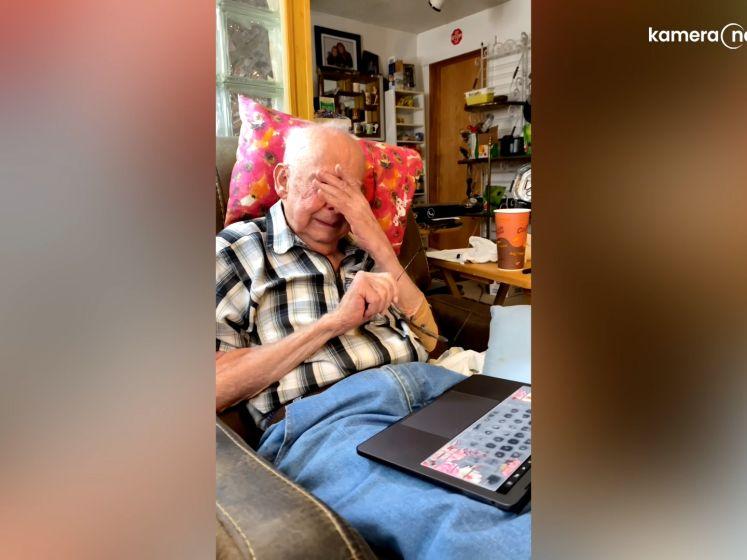 Ex-veteraan Jake in tranen na bewegende foto van zijn overleden vrouw