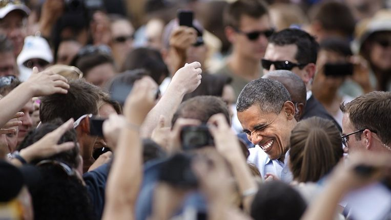 President Barack Obama op 2 september in Boulder, Colorado. Beeld AFP
