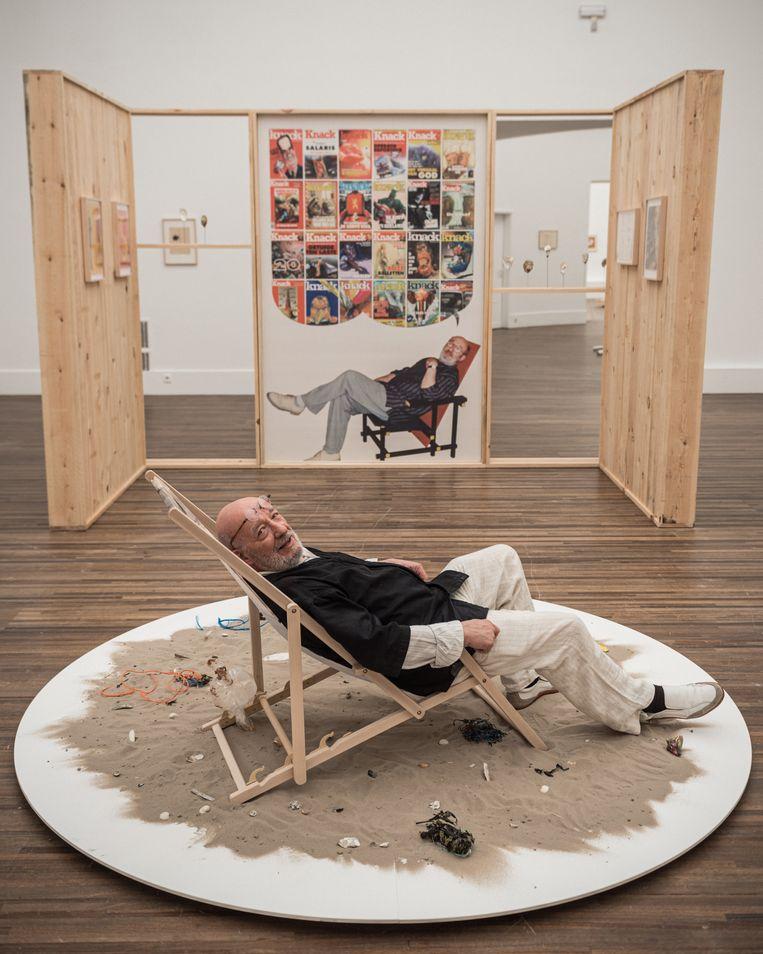 GAL, Gerard Alsteens, op de expo. Beeld Wouter Maeckelberghe