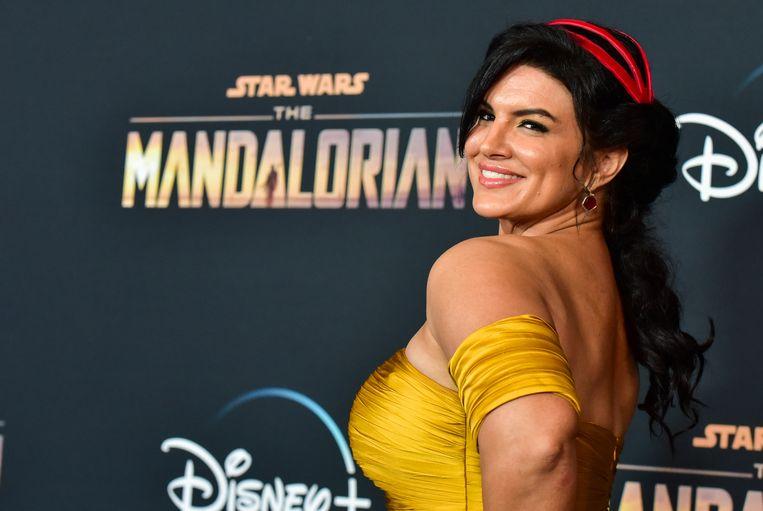 Gina Carano bij de première van Disney+'s