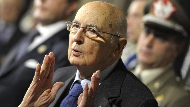 Giorgio Napolitano (89). Beeld EPA