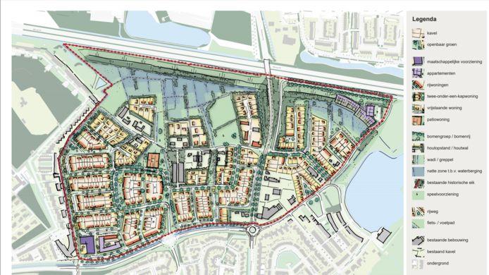 De nieuwe planschets voor woonwijk De Bakertand.