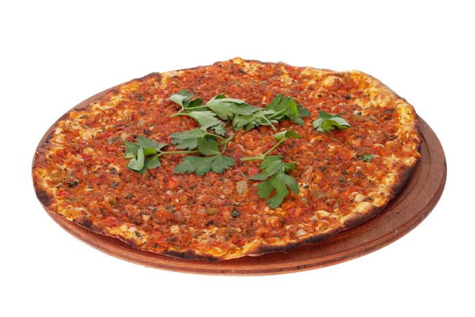 Turkse pizza ter illustratie.