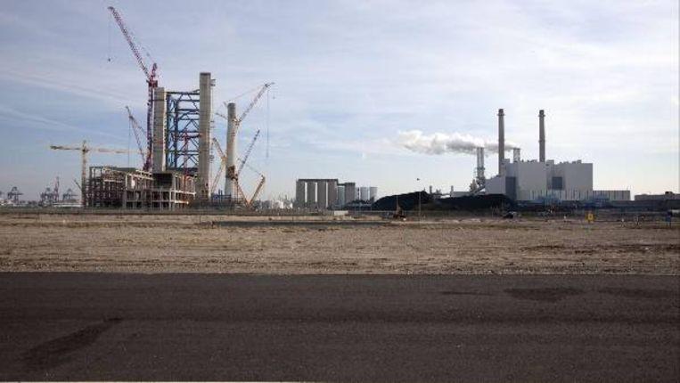 E-on bouwt op de Maasvlakte een nieuwe kolencentrale. (ANP) Beeld