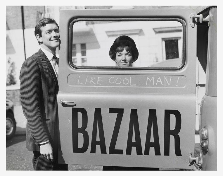 Voor haar boetiek Bazaar liet Mary Quants een strak, hip en ongekend groot logo ontwerpen. Beeld John Cowan Archive