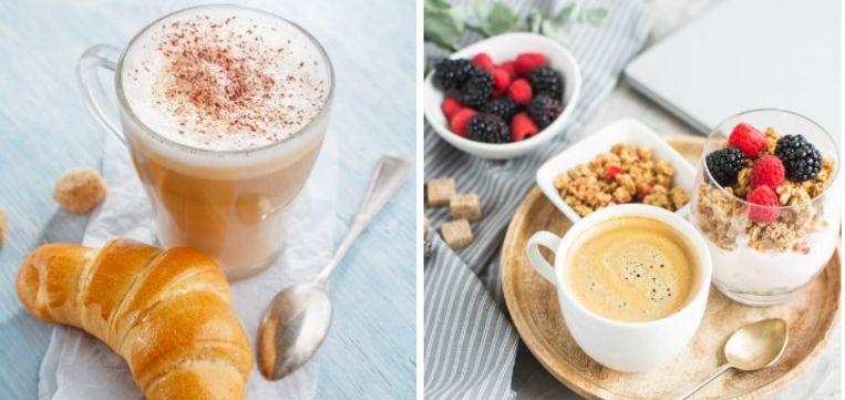Door in plaats van een latte voor een gewone koffie of een macchiato te kiezen, halveer je direct het aantal calorieën. Beeld Shutterstock