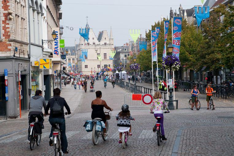 Op het bedrijventerrein buiten de stad zullen alleen winkels mogen komen die in de Mechelse binnenstad niet terecht kunnen. Beeld Legreve