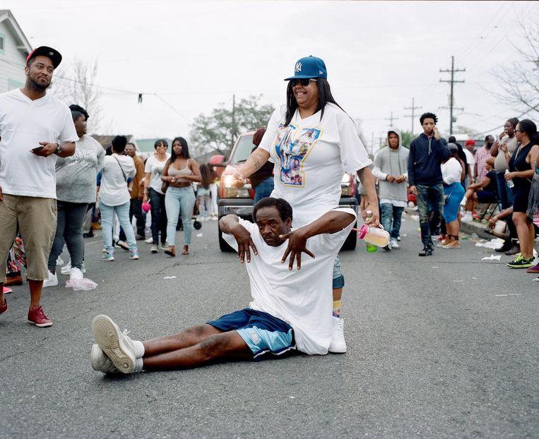 Op straat in New Orleans. Beeld Akasha Rabut