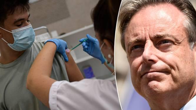 """De Wever wil geen """"apartheid"""" voor niet-gevaccineerden: """"We moeten regels durven loslaten, voor iedereen"""""""