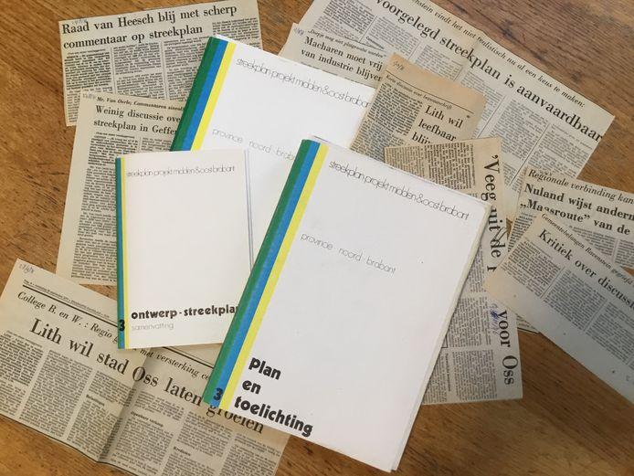 Het veelbesproken Streekplan Midden en Oost-Brabant (1976/77) en een selectie uit de vele artikelen uit het Brabants Dagblad.