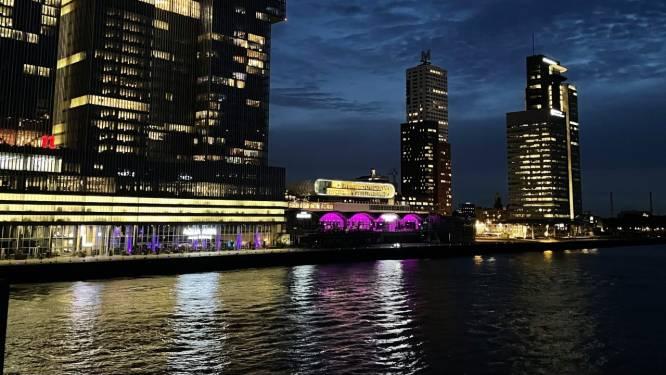 Bogen van de Cruise Terminal Rotterdam zijn roze en dit is de reden