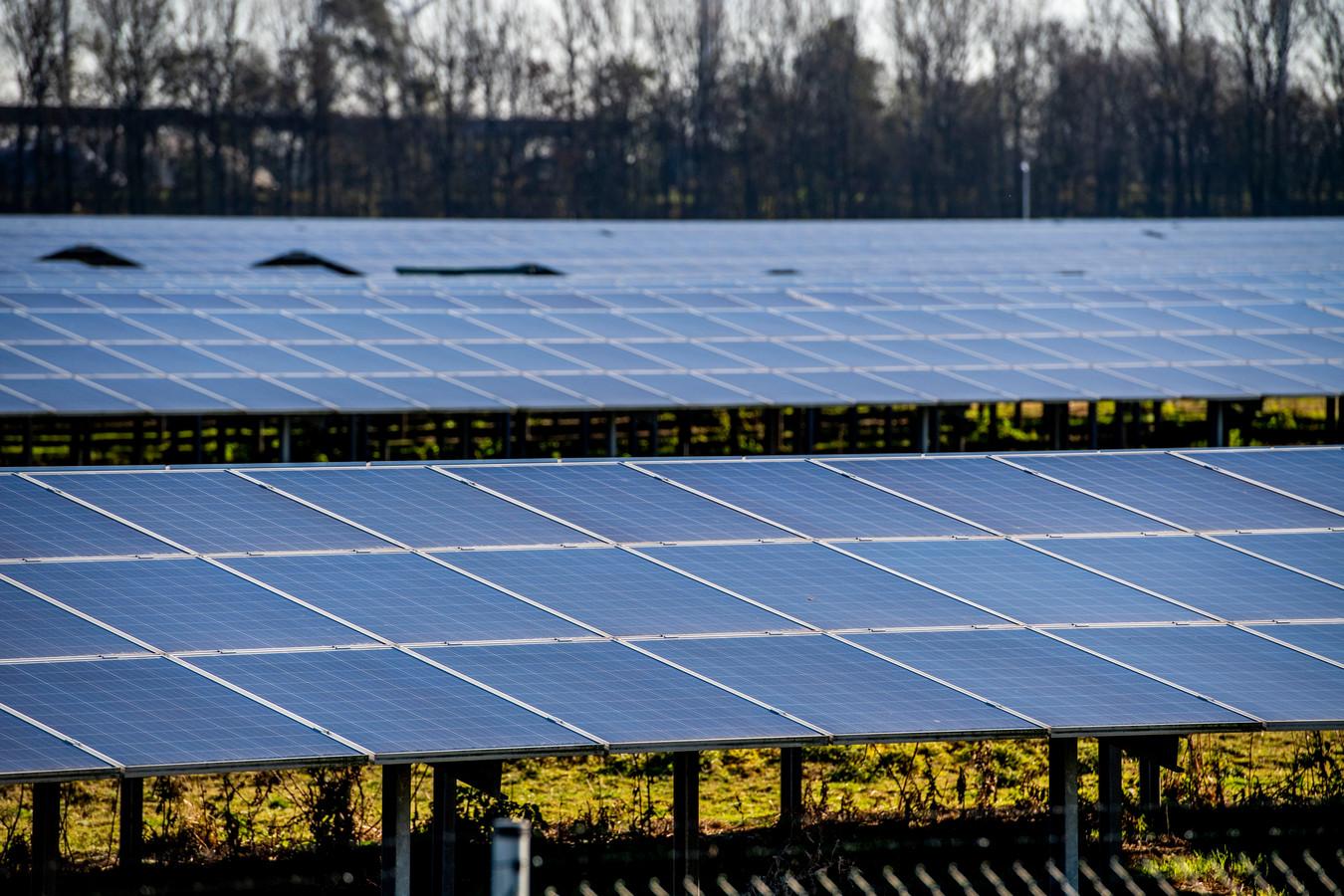 Een zonne-energiepark.