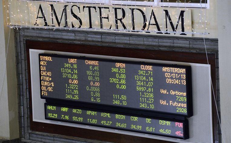 De beurs op 2 januari 2013 Beeld epa
