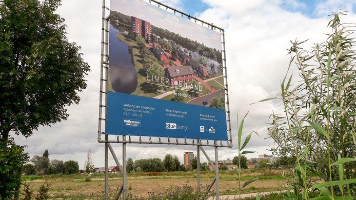 Eimerseiland wordt gebouwd aan de Immerlooplas in Arnhem-Zuid.