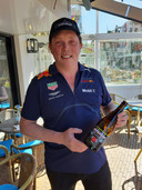Marcel Busscher met zijn Formule 1-biertje, Pitspils.