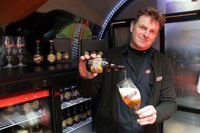 Erwin Vermeulen drie jaar geleden bij de lancering van zijn 'foodtruck'.