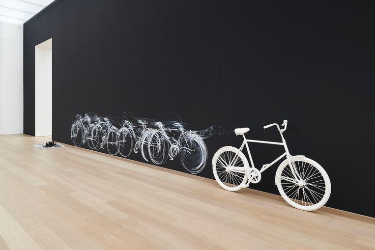 Chalk Bicycle, 2021.  Beeld Antoine van Kaam
