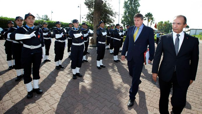 Jan Jambon en visite à Rabat.