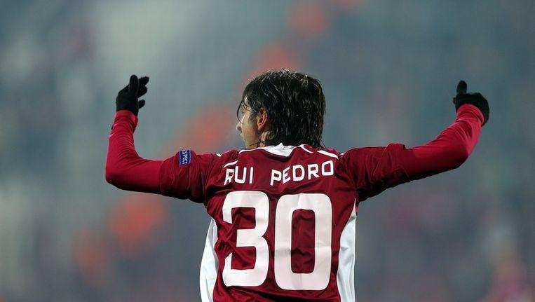 Rui Pedro maakte een hattrick voor Cluj. Beeld epa