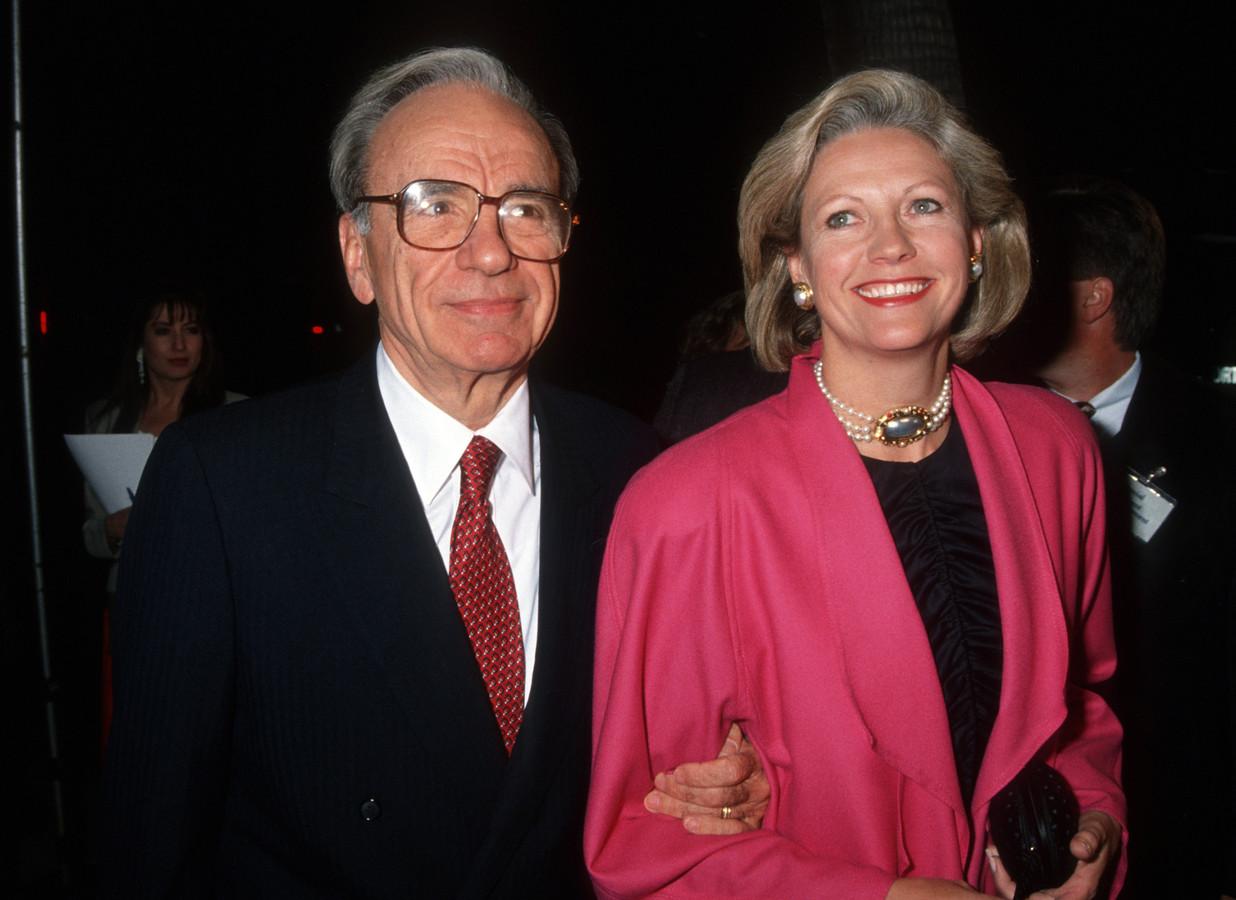 Rupert Murdoch en ex-vrouw Anna. Zij kreeg na de scheiding ruim 1,8 miljard euro.