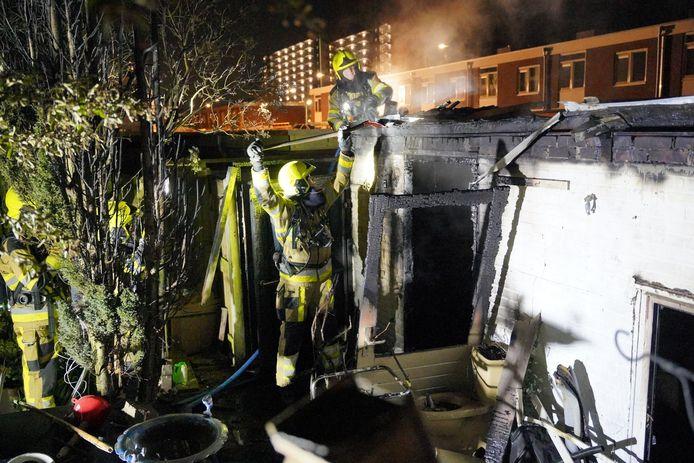 De brand is geblust aan de Doorwerthstraat in Nijmegen.