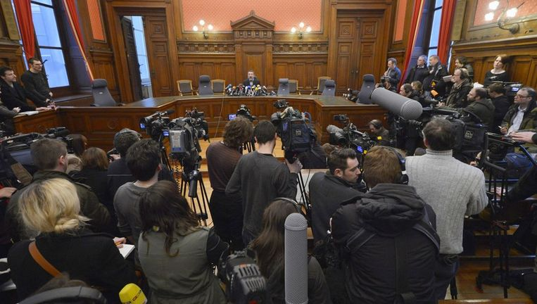 De rechtszaal waar Dutroux vandaag terechtstond. Beeld afp