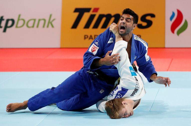 Casse (in het wit) verloor in de finale van Sagi Muki (blauw).